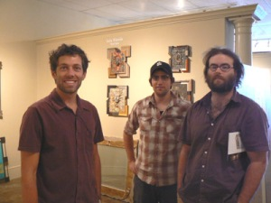 Ryder, Piotr, and Jon at Charles Adams Gallery